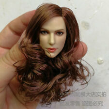 """Free Ship 1/6 head sculpt sexy female girls Gal Gadot Long Curls Hair fit 12"""" AU"""