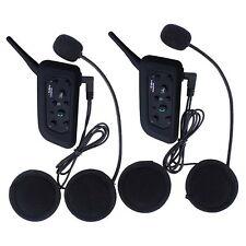 2 x BT Bluetooth Motorcycle Helmet Interphone Intercom Headset Headphones Stereo