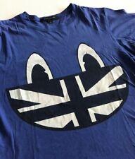 Marc Jacobs - T-shirt Bleu Homme - Taille M - Illustration drapeau UK - Vintage
