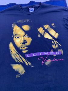Vtg 90s Luther Vandross Power Of Love Tour T-Shirt Sz XL Single Stitch R&B 1991