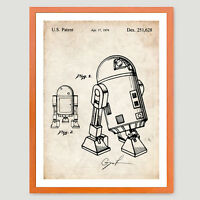 STAR WARS R2D2 DROID PATENT PRINT 18X24 MOVIE POSTER GIFT LUCAS 1979 unframed