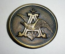 """Anheuser~Busch Eagle Belt Buckle """"The King of Beers"""" - Indiana Metal Craft"""