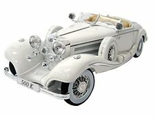 Maisto 1:18 Mercedes Benz 500 K Type Specialroadst White Diecast Model Car Toy