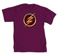 The Flash Lightning Symbol Mens Purple T-Shirt