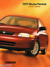 1997 MAZDA PROTEGE Sport Sedan Brochure / Catalog with Color Chart: DX, LX, ES,