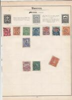 america mexico stamps sheet ref 17808