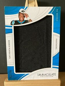 D.J MOORE NFL 2018 IMMACULATE ROOKIE PLAYER CAPS #/15 (CAROLINA PANTHERS)