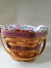 2000 Longaberger Morning Glory Basket With Liner & Protector Vguc