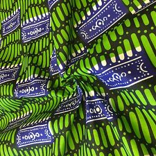African Print Fabric 100% Cotton 44'' wide sold by the yard (90101-2)