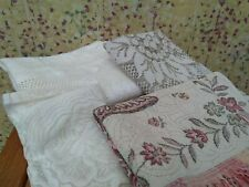 More details for 4 x vintage table linens - tray cloths / table cloths / chair arm covers