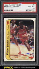1986 Fleer Sticker Michael Jordan ROOKIE RC #8 PSA 10 GEM MINT (PWCC)