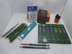 Vintage Faber Castell Mechanical Pencils Leads Sharpener + Alvin Erasing Shield