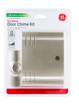GE 19303 Wireless Door Chime with 8 Sounds, Nickel New