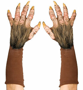 Beast Horror Monster Claws Paws Hands Halloween Deluxe Mens Costume Gloves