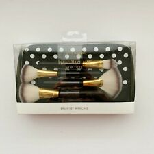Isaac Mizrahi New York 4 pc. Make Up Brush and Carry Travel Set NIB Powder Tool