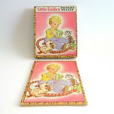 Little Golden Picture Puzzle Alphabet A to Z 1942 Simon Schuster 8 Pcs Tray Box