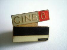 PINS RARE LOGO CHAINE  M6  CLAP CINE 6 TELEVISION TV FRANCE MOVIE