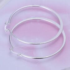 Fashion 925 Silver plated Jewelry Beauty Circle Hoop Earrings For Women