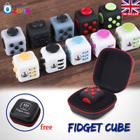 Fidget Cube Anxiety Stress Relief  Attention Therapy Case Focus Gift Adults Kids