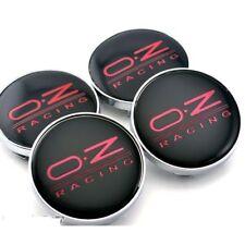 4x OZ Racing 68mm Alloy Wheel Hub Centre Caps Cap , Brand New , Black Red