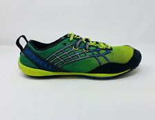 Merrell Mens Shoes Size 10 Green Yellow Tender Shoots Hiking Shoes Adjustable