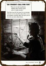 1943 BELL TELEPHONE PHONE SWITCHBOARD OPERATOR Vintage Look REPLICA METAL SIGN