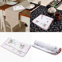 12Pcs Vintage Women Quadrate Floral Cotton Handkerchiefs Wedding Party Hankies