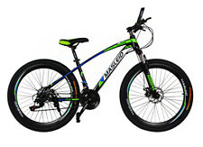 24 Adjustable Speed Ultra Mens Mountain Bike Green & Black Bicycle Fitness Gym