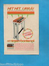 TOP970-PUBBLICITA'/ADVERTISING-1970- BONTEMPI - HIT ORGAN