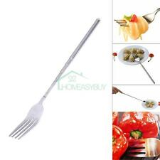 Telescopic Extendable Food Long Handle Fork Stainless Steel Camping BBQ Roasting