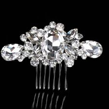 Crystal Wedding Hair Accessories Jewelry Pearl Hairpin Hairclip Comb Bridal