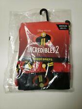 Lot of 3 Disney Pixar Incredibles Men's Red Print Boxer Size M (30-31) New w/T