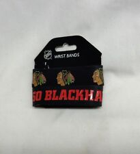 NHL Chicago Blackhawks 2 Pack Bracelet Wrist Bands Set Rubber PVC Type FREESHIP