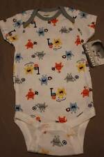 NEW Baby Boys Bodysuit 6 - 9 Month Onesie Creeper Monster Soccer Football Gerber