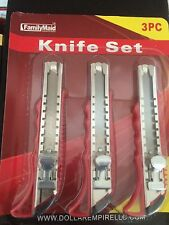 3pc Retractable Cutter Knife Razor Blade Box Cutter Tools 2/$5