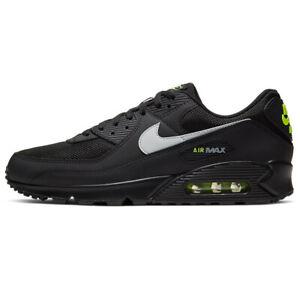 Nike Air Max 90 Uomo Nero verde fluo scarpe sneakers 41 42 43 44 45 originale