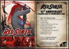 Jenny Frison SIGNED Red Sonja 45th Anniversary Trading Promo Promotional Card