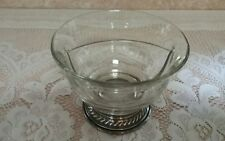 Vintage Clear Glass Bowl Divided Dish With Sterling Silver Base *Serve In Style*