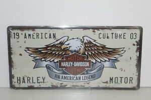 HDNP8 HARLEY DAVIDSON MOTOR CYCLES Number Plate / Metal Sign New 15.5 H X 30.5 W