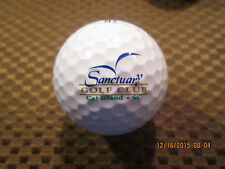 Logo Golf Ball-Sanctuary Golf Club.South Carolina.New!