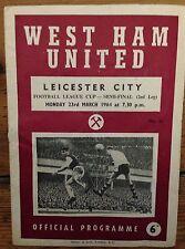 LEAGUE CUP SEMI FINAL 1964: West Ham v Leicester City