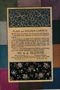 1920 W J Sloane Carpets-Floor Coverings-Decorative-Furniture Makers-Quality