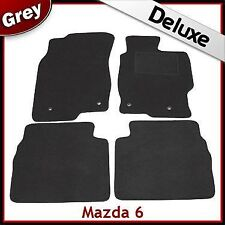 Mazda 6 Mk2 2007-2012 Tailored LUXURY 1300g Carpet Car Floor Mats GREY