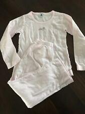 Petit Bateau 122 / 128 Schlafanzug 2 Teiler *N 8 Jahre Rosa Baumwolle Pyjama Top
