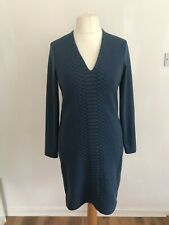 Sandwich_ Ladies Teal/blue Shift Jersey Dress Immaculate Condition Size 12-14