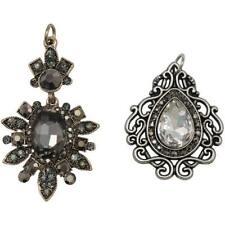 Tim Holtz Assemblage Charms 2pcs - Baroqued Diamonds THA20129
