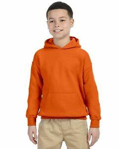 Gildan Youth Basic Fleece Blend Hooded Pullover Sweatshirt 18500B XS-XL Hoodie