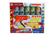 Bambini Children's Tin Can Alley sparare a tiro Gioco Freccette schiuma morbida 2 PISTOLE Regalo