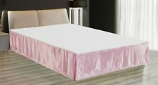"""EliteHomeProducts Super Soft & Silky Satin Bed Skirt with 14"""" Drop"""