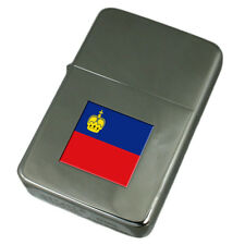 Engraved Lighter Liechtenstein Flag